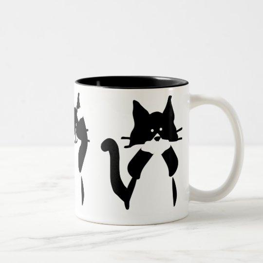 Three Wise Kitties Two-Tone Coffee Mug