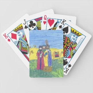 Three wise men bicycle poker deck