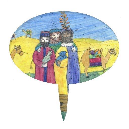 Three wise men cake picks