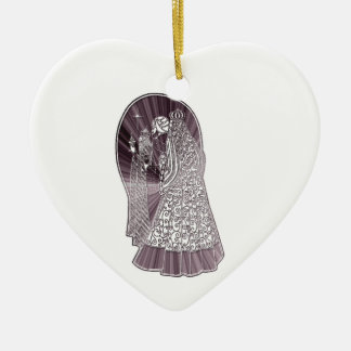 Three Wise Men Christmas Art Ceramic Heart Decoration