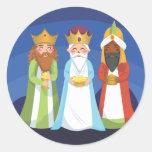 Three Wise Men Classic Round Sticker