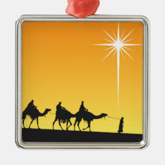 Three Wise Men Following the Star Christmas Ornament
