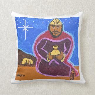 """""""Three Wise Men - Gaspar Square Pillow Cushions"""