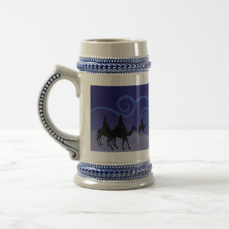Three Wise Men guide by the  star of Bethlehem Beer Steins