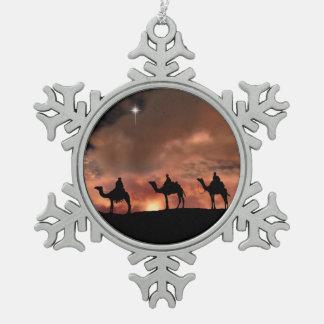 Three Wise Men Pewter Snowflake ornament
