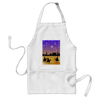 Three Wise men poster Adult Apron