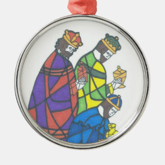 Three Wise Men Silver-Colored Round Decoration