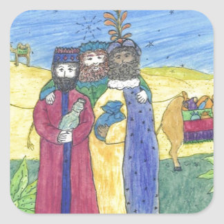 Three wise men square sticker