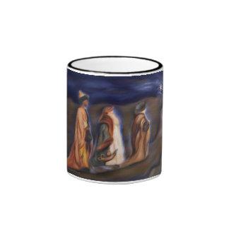 Three Wise Men Star guide walk to Bethlehem Ringer Mug