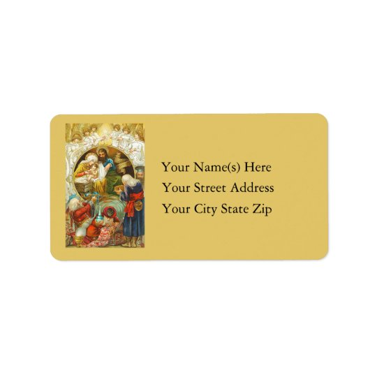 Three Wise Men Vintage Christmas Label