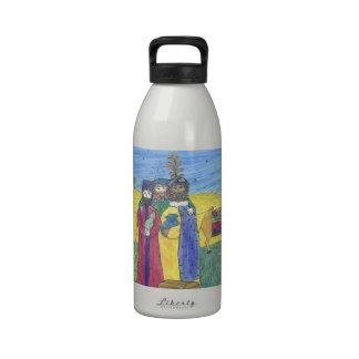 Three wise men drinking bottle
