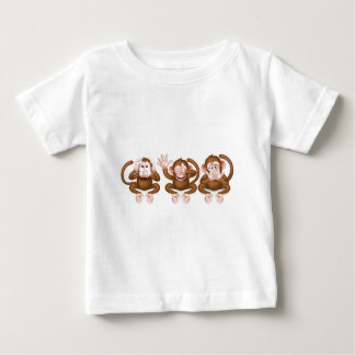 Three Wise Monkeys Baby T-Shirt