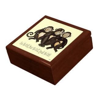 Three Wise Monkeys Gift Box