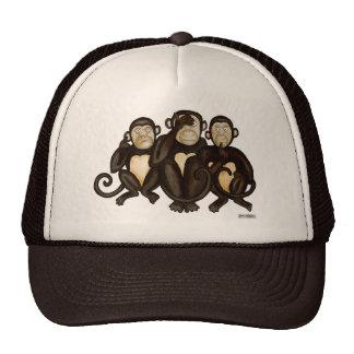 Three Wise Monkeys Trucker Hat