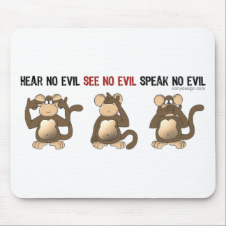 Three Wise Monkeys Mousepads