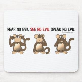 Three Wise Monkeys Mousepads