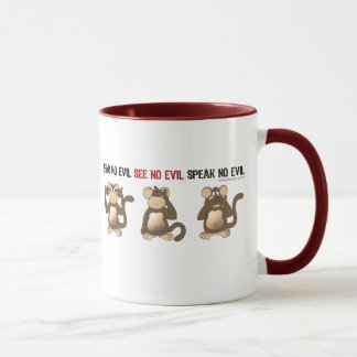 Three Wise Monkeys Mugs