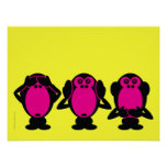 Three Wise Monkeys Posters