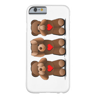 Three Wise Monkeys, Teddy Bear Print Barely There iPhone 6 Case