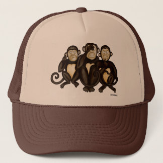 Three Wise Monkeys Trucker Hat