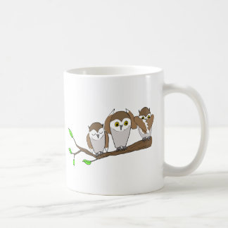 three wise owls coffee mugs