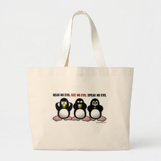 Three Wise Penguins Tote Bags
