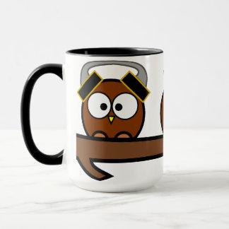 Three Wise Quirky Owls Mug