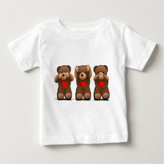 Three Wise Teddies, Teddy Bear Print Baby T-Shirt