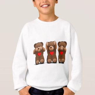 Three Wise Teddies, Teddy Bear Print Sweatshirt
