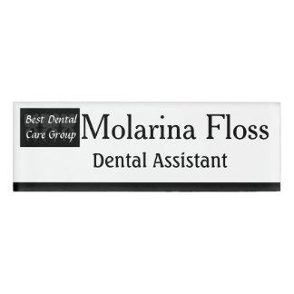Three Wise Teeth Dentist Name Tag