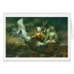 Three Witches Greetings Card