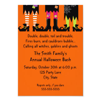 Three Witches Halloween Party Invitation