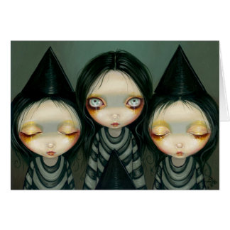 Three Witchy Sisters Greeting Card