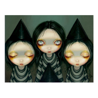 Three Witchy Sisters Postcard