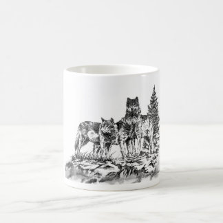 Three Wolfs Coffe Mug