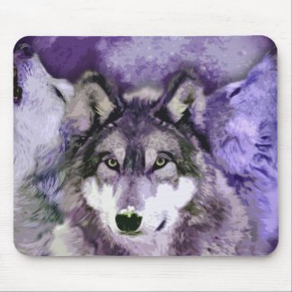 Three Wolves Mouse Mat