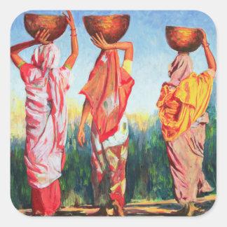 Three Women 1993 Square Sticker