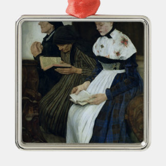 Three Women in Church, 1882 Christmas Ornament