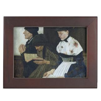 Three Women in Church, 1882 Keepsake Box