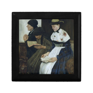 Three Women in Church, 1882 Small Square Gift Box