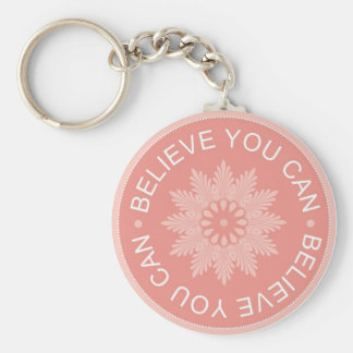 Three Word Quotes ~Believe You Can~ Basic Round Button Key Ring