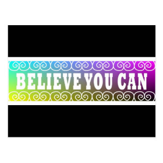 Three Word Quotes Believe You Can Postcard