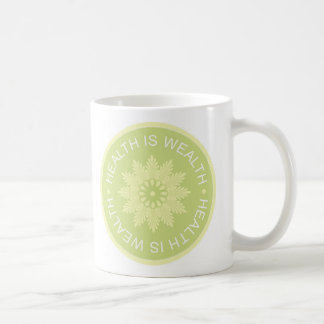 Three Word Quotes ~Health Is Wealth~ Coffee Mug