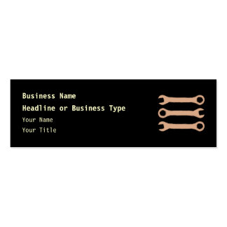 Three Wrenches. Tools. Brown. Pack Of Skinny Business Cards