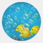 Three Yellow fish- Stickers