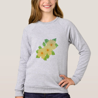 three yellow flowers sweatshirt