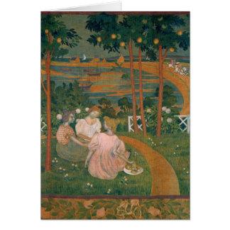 Three Young Princesses, 1898 Card