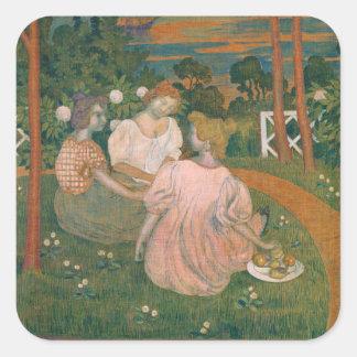 Three Young Princesses, 1898 Square Sticker