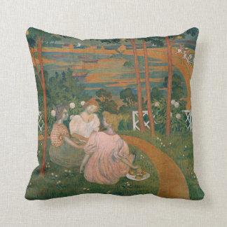 Three Young Princesses, 1898 Throw Pillow