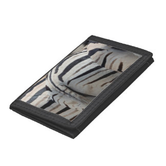 Three zebra tails and behinds trifold wallet